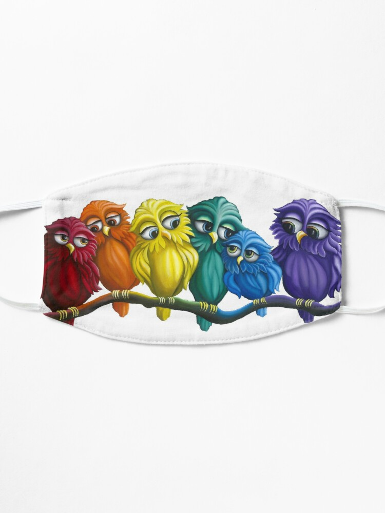 Alternate view of Rainbow Owls  Mask
