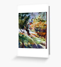Gnarled Silhoutte Greeting Card