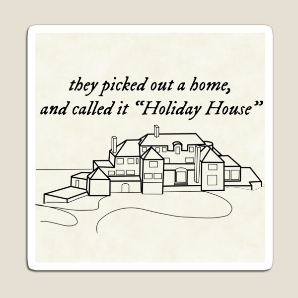 Holiday House The Last Great American Dynasty Taylor Swift Lineart Magnet