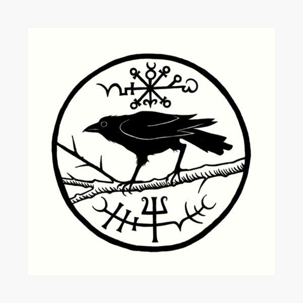 Crow of the North Art Print