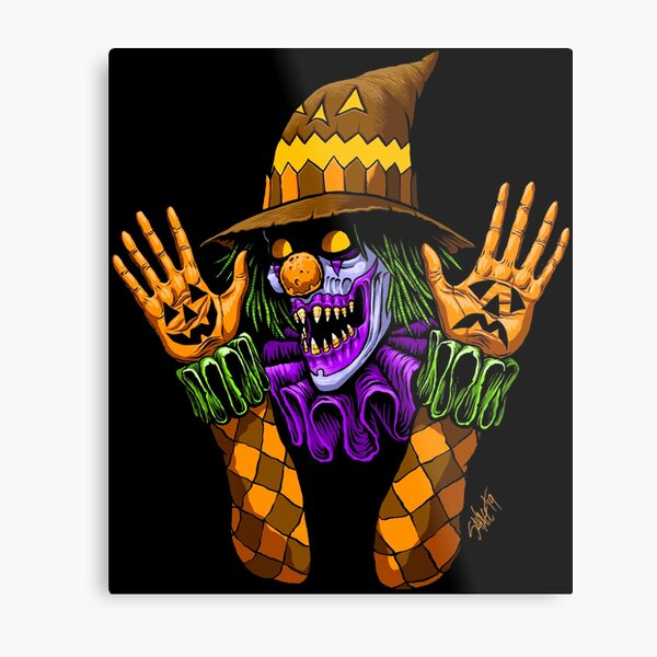 Scareclown Metal Print