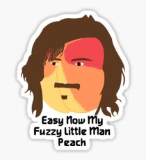 Fuzzy Little Man Peach Sticker