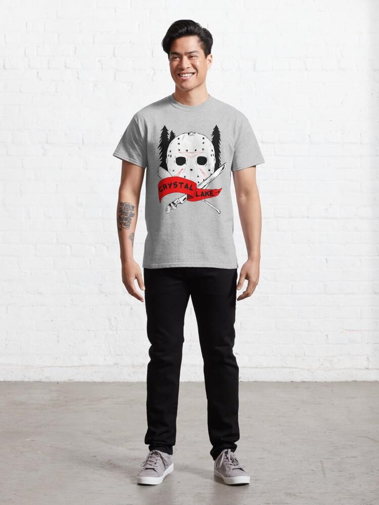 Alternate view of Crystal Lake Cross Classic T-Shirt