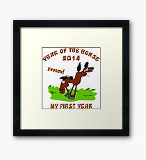 Born Year of The Horse Baby 2014 Framed Print