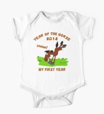 Born Year of The Horse Baby 2014 One Piece - Short Sleeve