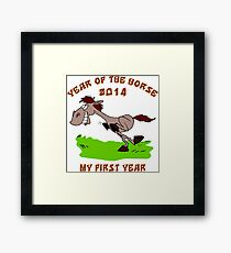 Born 2014 Year of The Horse Baby Framed Print