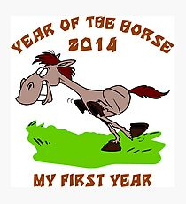 Born 2014 Year of The Horse Baby Photographic Print
