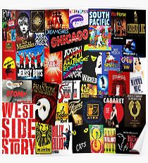 Broadway Collage Poster