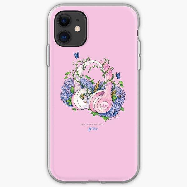 Pride and Prejudice Podcast Headphones Pink iPhone Soft Case
