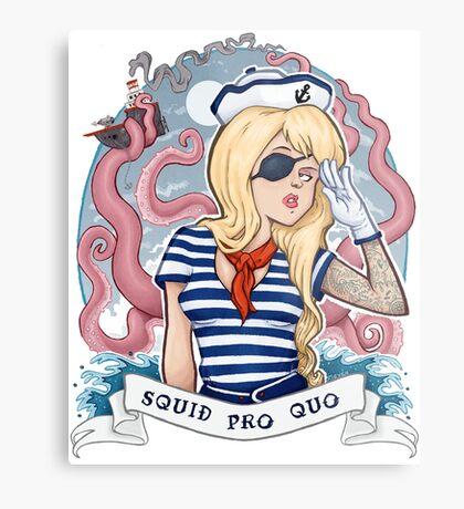 Squid Pro Quo Metal Print