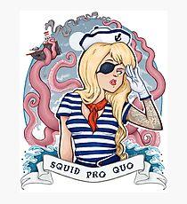 Squid Pro Quo Photographic Print