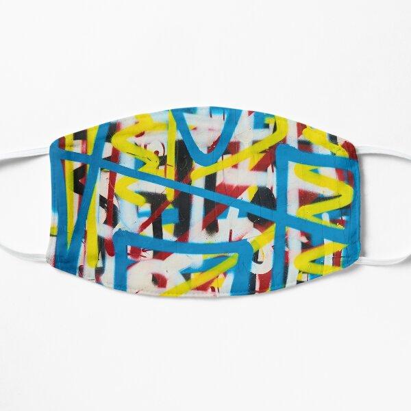Layered City - graffiti bomb colorful abstract Mask