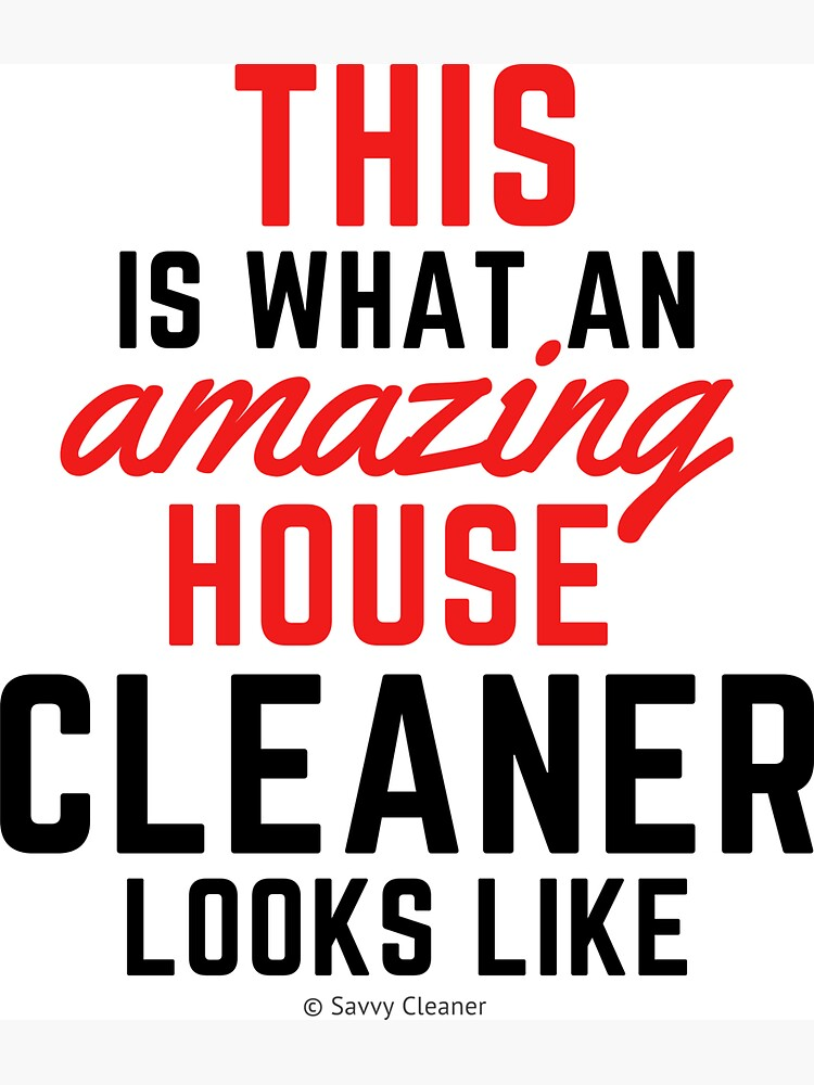 This Amazing House, Funny Cleaning Maid, Housekeeping Humor by SavvyCleaner