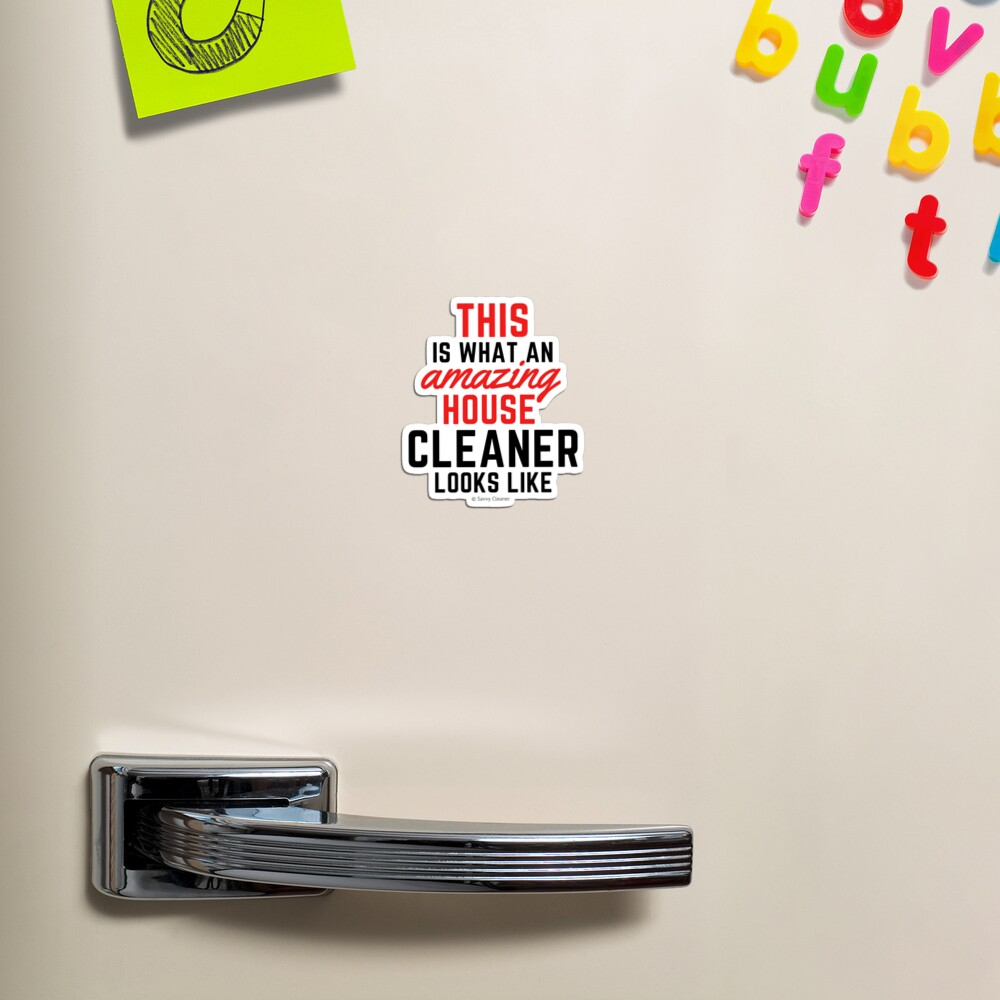 This Amazing House, Funny Cleaning Maid, Housekeeping Humor Magnet