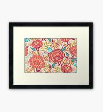 Bright garden pattern Framed Print