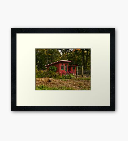 Lil Red Barns Framed Print
