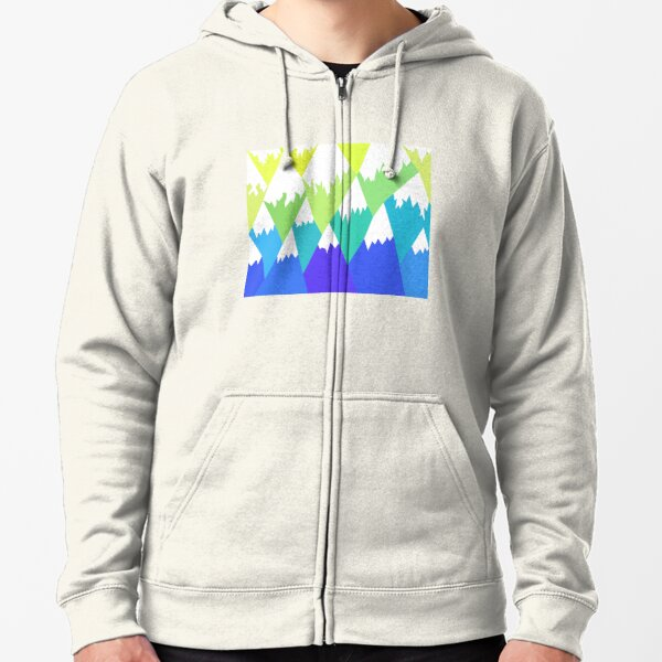 Snow capped mountains Zipped Hoodie