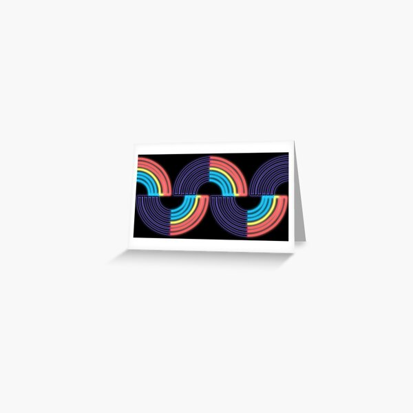 Polyamorous Neon Light Raibow 2 Greeting Card
