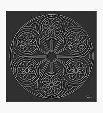 Portal Mandala - Print - white design Photographic Print