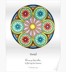 Portal Mandala - Poster w/Message Poster