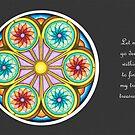 Portal Mandala - Card  w/Message, Grey Background by TheMandalaLady