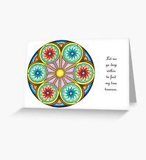 Portal Mandala - Card  w/Message Greeting Card