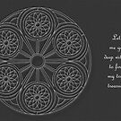 Portal Mandala - Card - White Design w/Message  by TheMandalaLady