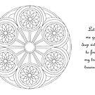 Portal Mandala - Coloring Card w/Message  by TheMandalaLady