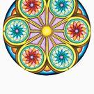 Portal Mandala T-Shirt - Full Color by TheMandalaLady