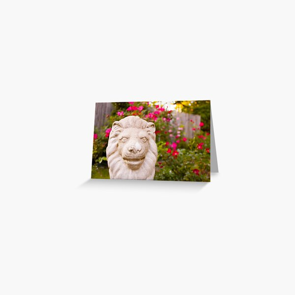Stone Lion Greeting Card