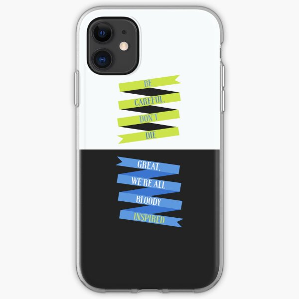 Be Careful, We're All Bloody Inspired iPhone Soft Case
