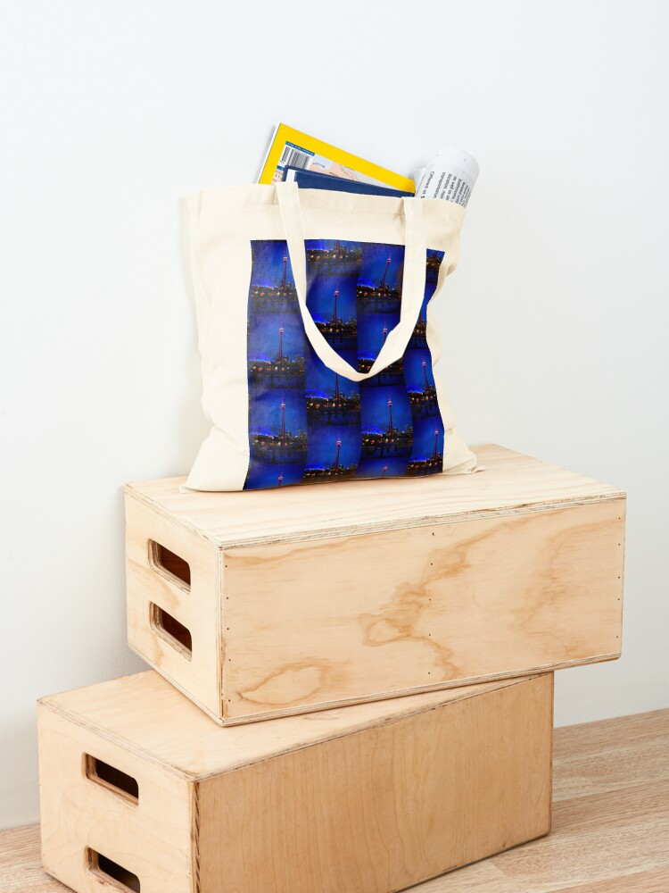 Alternate view of Blue song for Toronto by Yannis Lobaina Tote Bag