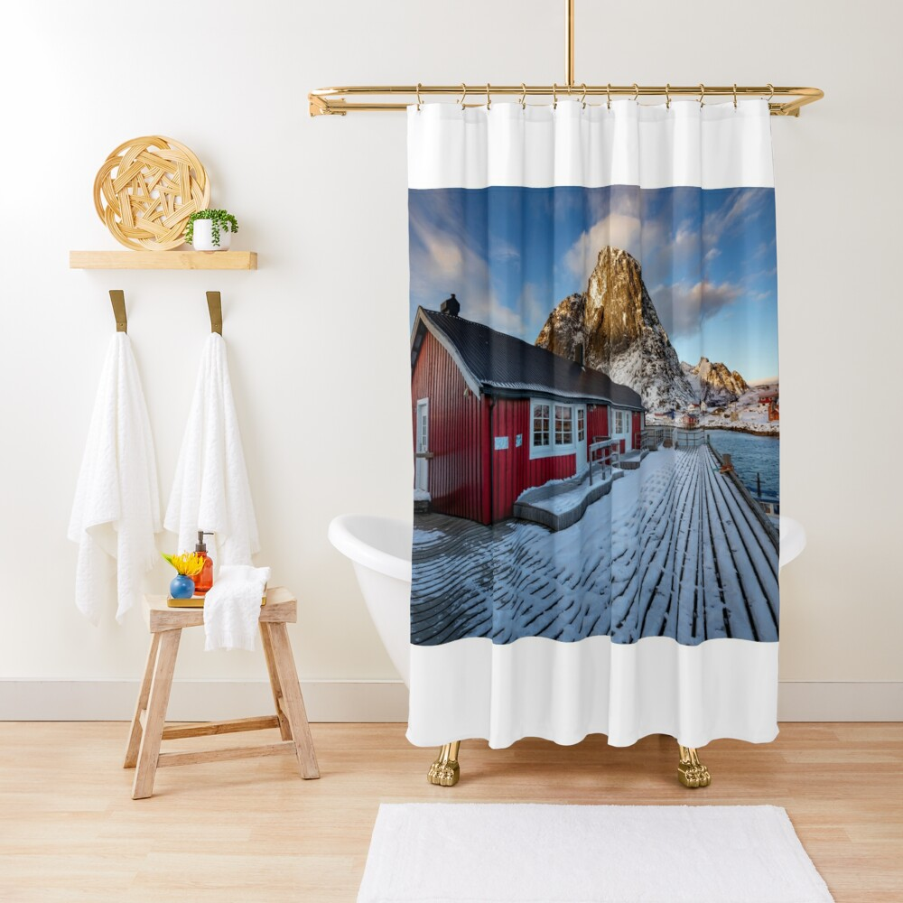Hamnoy Hut Shower Curtain