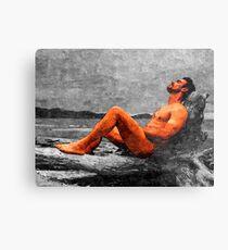 Reclined Nude Drifter Metal Print