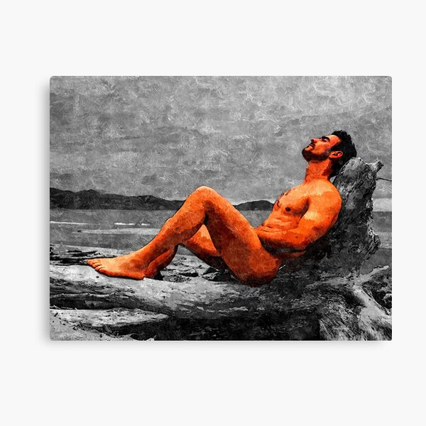 Reclined Nude Drifter Canvas Print