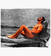 Reclined Nude Drifter Poster