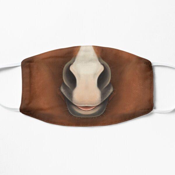 Chestnut Horse Face Flat Mask