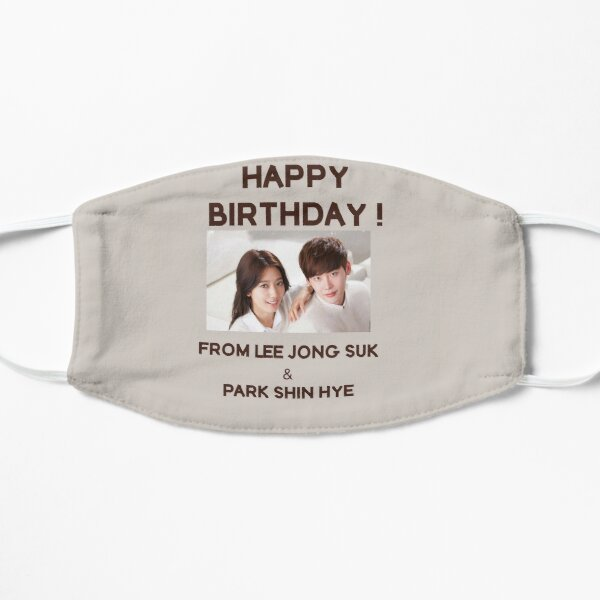 Happy Birthday From Park Shin Hye & Lee Jong Suk  Mask