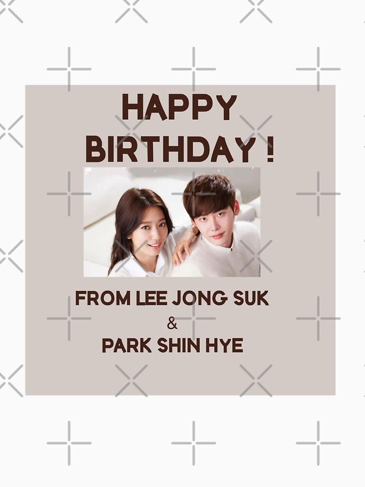 Happy Birthday From Park Shin Hye & Lee Jong Suk  by kpopkdramamerch