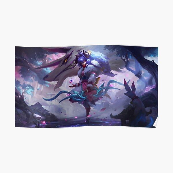 Spirit Blossom Kindred Splash Art 8K - League of Legends Poster