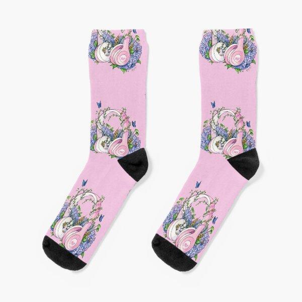 Pride and Prejudice Podcast Headphones Pink Socks