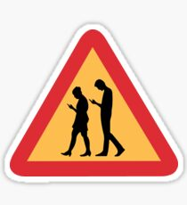 Mobile Zombies Warning, Road Sign, Sweden Sticker