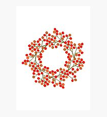 rowanberry wreath Photographic Print