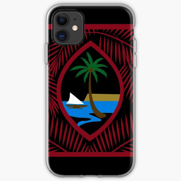 GUAM RUN 671 Guahan Palm Seal USA Flag I iPhone Soft Case