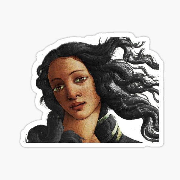 Botticelli American Venus Woman Women Ethnic Black Lives Matter Sticker