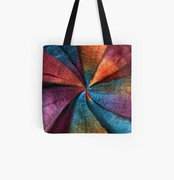 Fiber Swirl All Over Print Tote Bag
