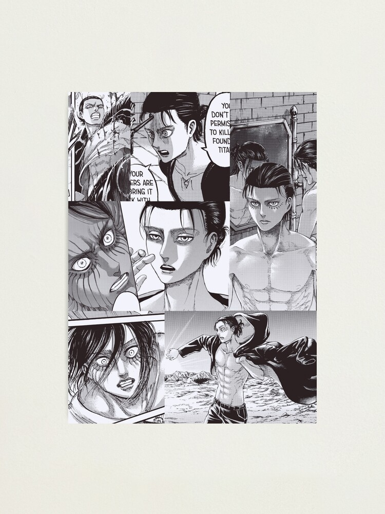 Eren Yeager Attack On Titan Photographic Print By Sophiesnk Redbubble