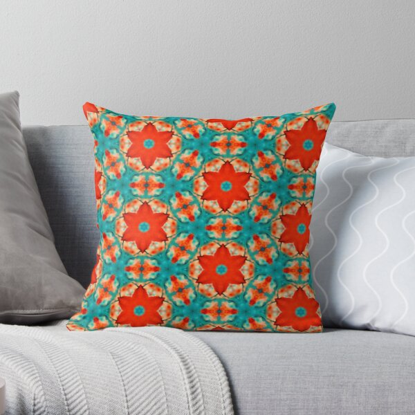 Floral Watercolor Pattern  Throw Pillow
