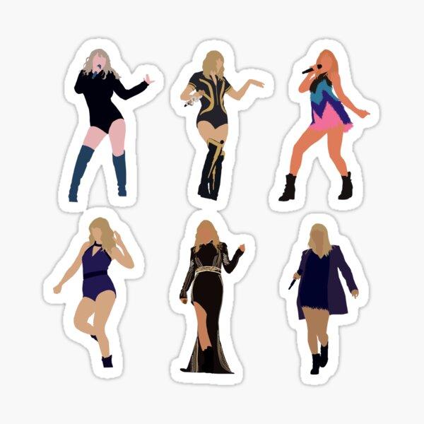 Taylor Reputation Era Tour Outfits Sticker Pack Sticker
