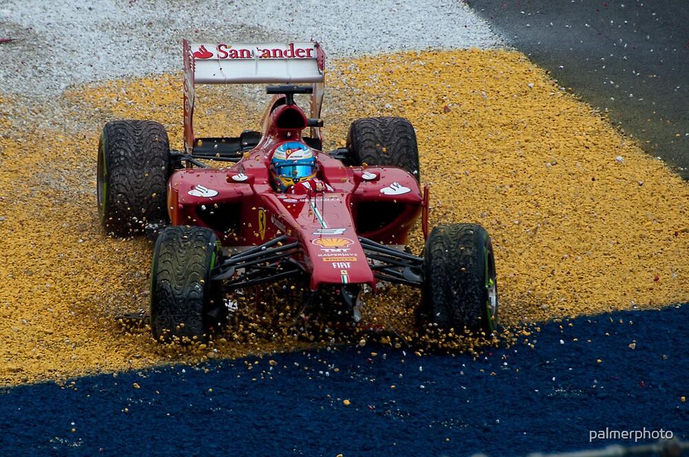 Alonso F1 Crash by palmerphoto